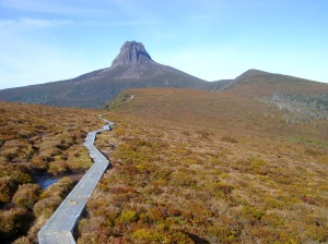 Track to Famous Barn Bluff Mountain in Tasmania